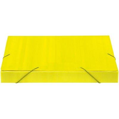 Pasta novaonda ofício 335x245x35mm amarela Polibrás PT 1 UN