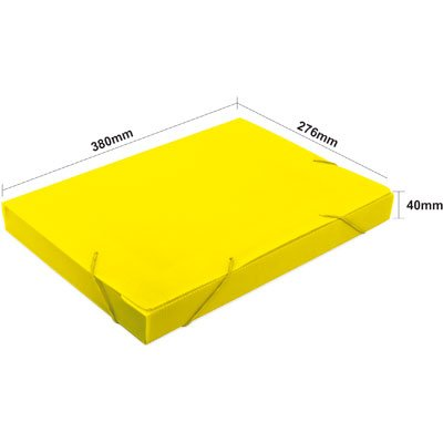 Pasta novaonda universitário 380x276x40mm amarela Polibrás PT 1 UN
