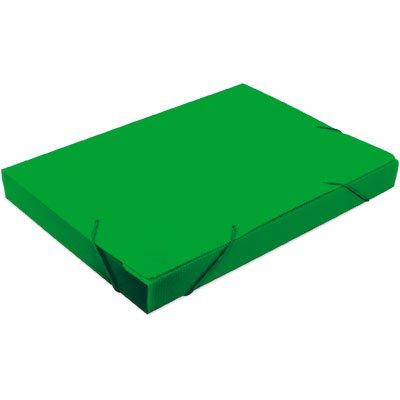 Pasta novaonda universitário 380x276x40mm verde Polibrás PT 1 UN