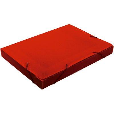 Pasta novaonda universitário 380x276x40mm vermelha Polibrás PT 1 UN