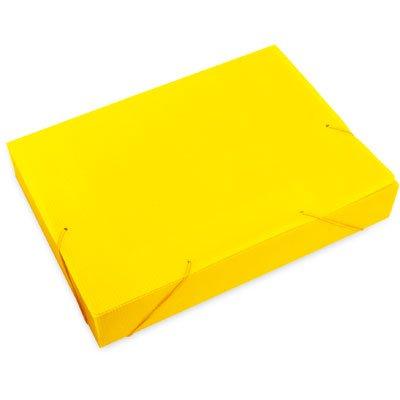 Pasta novaonda ofício 335x245x55mm amarela Polibrás PT 1 UN