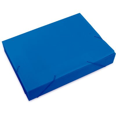 Pasta novaonda ofício 335x245x55mm azul Polibrás PT 1 UN