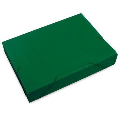Pasta novaonda ofício 335x245x55mm verde Polibrás PT 1 UN
