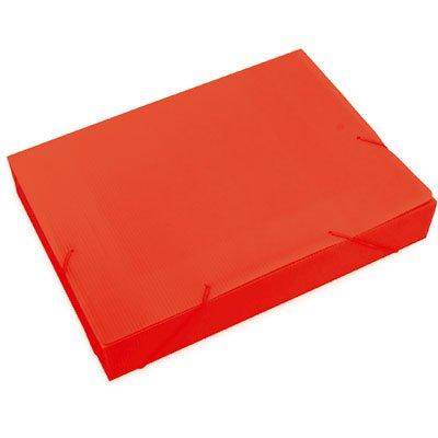 Pasta novaonda ofício 335x245x55mm vermelha Polibrás PT 1 UN