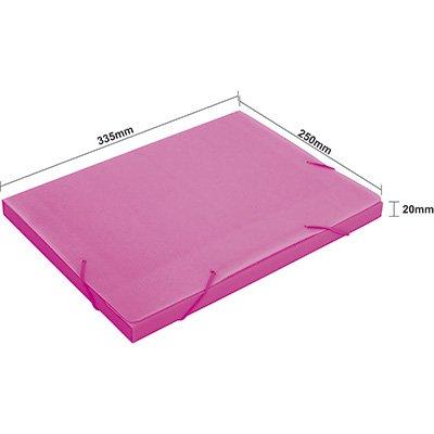 Pasta novaonda escolar 335x250x20mm rosa Polibrás PT 1 UN