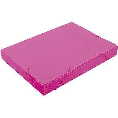 Pasta novaonda ofício 335x245x35mm rosa Polibrás PT 1 UN