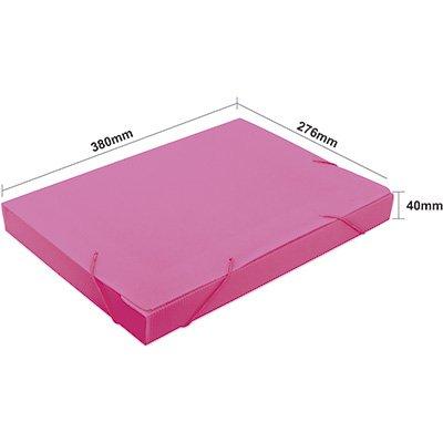 Pasta novaonda universitário 380x276x40mm rosa Polibrás PT 1 UN