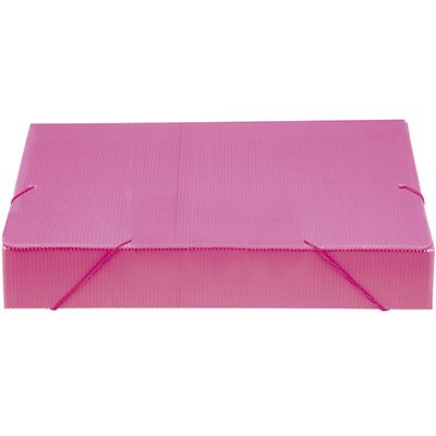 Pasta novaonda ofício 335x245x55mm rosa Polibrás PT 1 UN