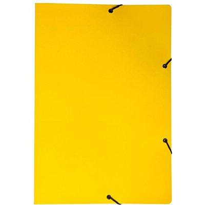 Pasta com aba elástico em cartão duplex Ofício amarela Dello PT 1 UN
