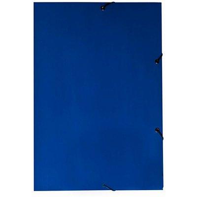 Pasta com aba elástico em cartão duplex Ofício azul Dello PT 1 UN