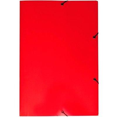 Pasta com aba elástico em cartão duplex Ofício vermelha Dello PT 1 UN