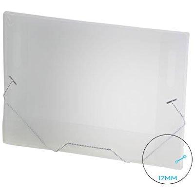 Pasta com aba elástico polipropileno Ofício - 17mm transparente A17 Plascony PT 1 UN
