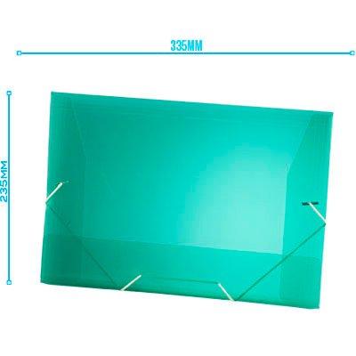 Pasta com aba elástico polipropileno Ofício verde A02 Plascony PT 1 UN
