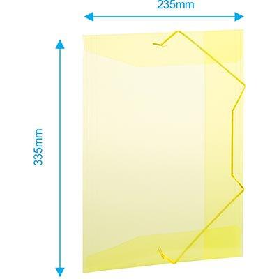 Pasta c/ elástico polipropileno 350x235mm amarelo A02 Plascony PT 1 UN