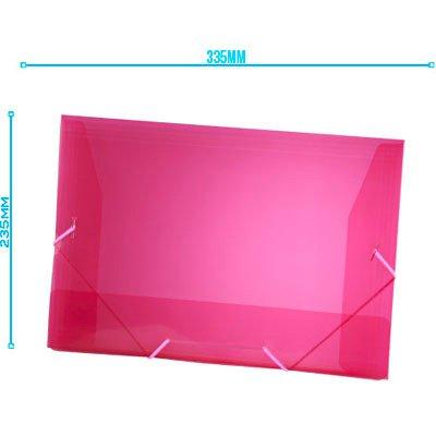Pasta com aba elástico polipropileno Ofício rosa A02 Plascony PT 1 UN