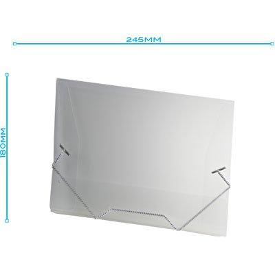 Pasta c/ elástico polipropileno 245x180 transparente A01 Plascony PT 1 UN