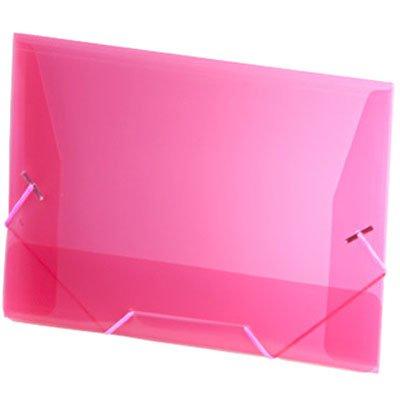 Pasta com aba elástico polipropileno 1/2 Ofício rosa A01 Plascony PT 1 UN