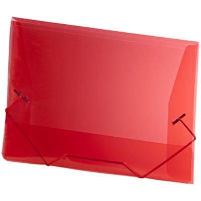 Pasta com aba elástico polipropileno Ofício vermelha A02 Plascony PT 1 UN