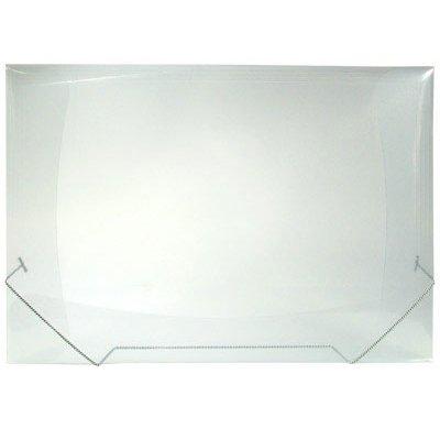 Pasta com aba elástico polipropileno A3 transparente A03EX Plascony PT 1 UN