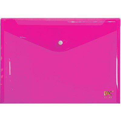 Pasta documento A4 fecho botão rosa 653PP-RS DAC PT 1 UN
