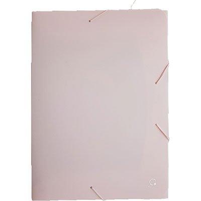 Pasta com aba elástico polipropileno A4 - 40mm rosa pastel A40LOLY Plascony PT 1 UN