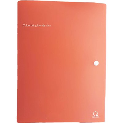 Pasta documento A4 fecho botão Living Coral A02LIV Plascony PT 1 UN
