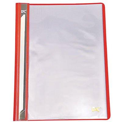 Pasta catálogo c/ 10 envelopes A4 frente transparente vermelho 672PP DAC PT 1 UN