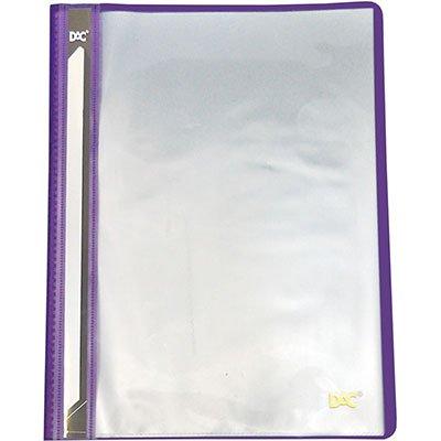 Pasta catálogo c/ 10 envelopes A4 frente transparente lilás 672PP DAC PT 1 UN