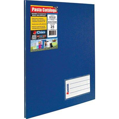 Pasta catálogo c/ 25 envelopes ofício azul c/ colchete 4006 Chies PT 1 UN