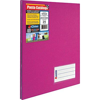 Pasta catálogo c/ 25 envelopes ofício pink c/ colchete 4007 Chies PT 1 UN