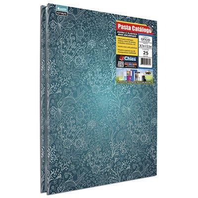 Pasta catálogo c/ 25 envelopes ofício tropical c/ colchete 5349 Chies PT 1 UN
