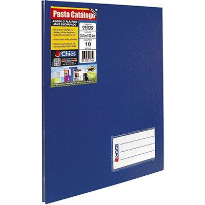 Pasta catálogo c/ 10 envelopes ofício azul royal c/ colchete 2534-5 Chies PT 1 UN