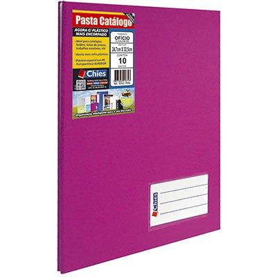 Pasta catálogo c/ 10 envelopes ofício pink c/ colchete 2535-2 Chies PT 1 UN