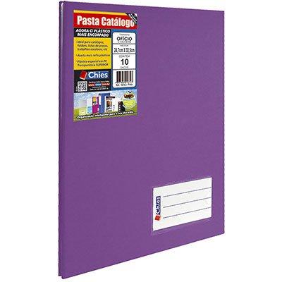 Pasta catálogo c/ 10 envelopes ofício violeta c/ colchete 4001-0 Chies PT 1 UN