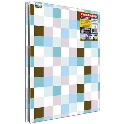 Pasta catálogo c/ 25 envelopes ofício quadrado c/ colchete 4089-8 Chies PT 1 UN