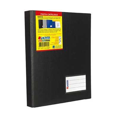 Pasta catálogo c/ 100 envelopes A4 jumbo preta 1224 Chies PT 1 UN