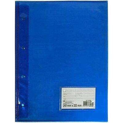 Pasta catálogo c/ 10 envelopes 0,15 pvc diamante azul 5028az DAC PT 1 UN