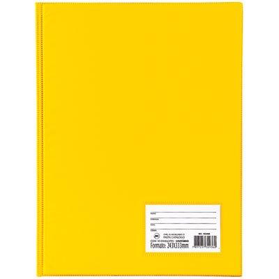 Pasta catálogo c/ 50 envelopes 0,6 ofício c/ visor amarelo 1090AM DAC PT 1 UN