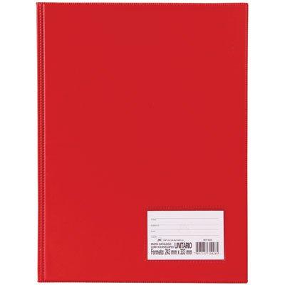 Pasta catálogo c/ 50 envelopes 0,6 ofício c/ visor vermelho 1090VM DAC PT 1 UN