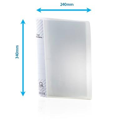 Pasta catálogo c/ 50 envelopes c/ visor transparente 0.08mm 1050 Plascony PT 1 UN