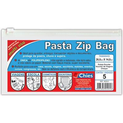 Pasta Zip versátil cristal 280x140mm 4025 Chies PT 5 UN
