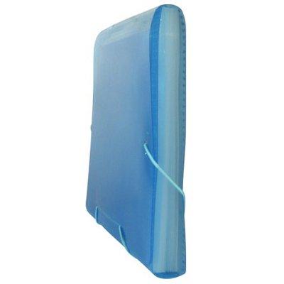 Pasta Sanfonada Plástica A4 Azul com 12 divisórias SME12PAZ Plascony PT 1 UN