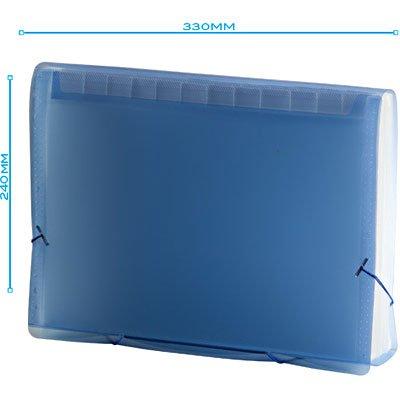 Pasta Sanfonada Plástica A4 Azul com 31 divisórias SME31P Plascony PT 1 UN