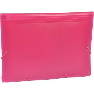 Pasta Sanfonada Plástica A4 Rosa com 12 divisórias SME12PRS Plascony PT 1 UN