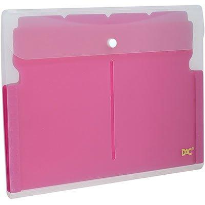 Pasta sanfonada plástica A4 5 divisórias rosa 678PP-RS DAC PT 1 UN