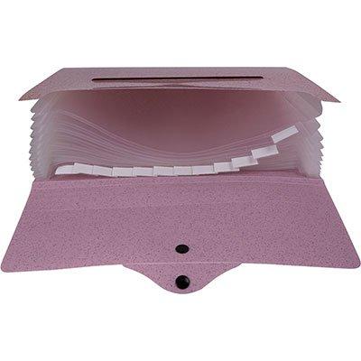 Pasta sanfonada plástica A4 12 div Secrets rosa Dello PT 1 UN