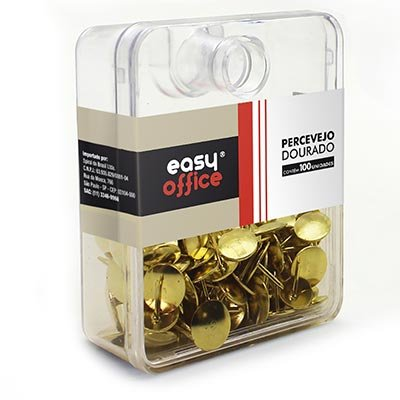Percevejo 9,5mm dourado 100304S Easy Office PT 100 UN