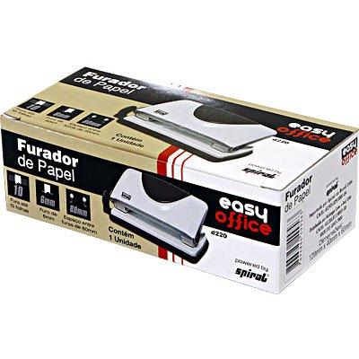 Perfurador de papel 02 furos p/10 fls D-220 Easy Office CX 1 UN
