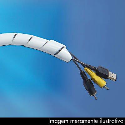 Organizador p/cabos e fios 19,1mmx2m branco Hellermanntyton PT 1 UN