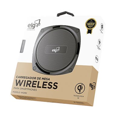 Carregador Wireless de mesa preto WQ1BK Elg CX 1 UN
